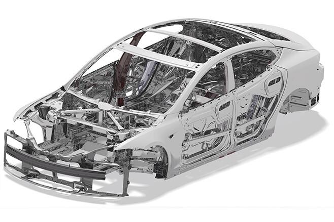 Tesla Model S aluminium chassis