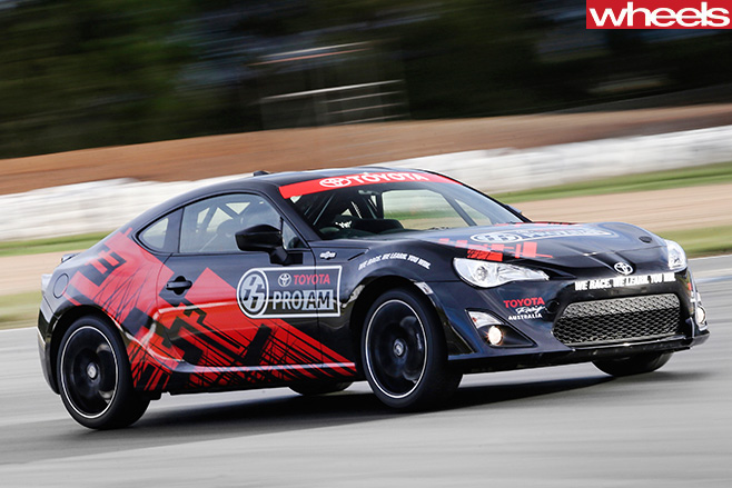 Toyota -86-Race -Car -front -side -driving