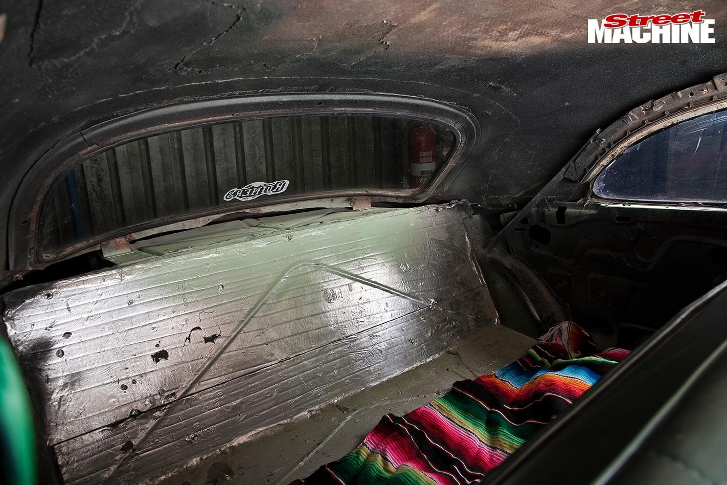 Chev sedan interior rear