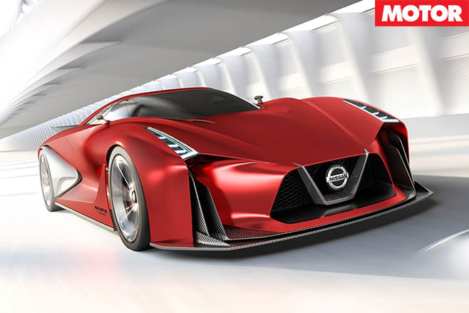 Nissan R36 GT-R red