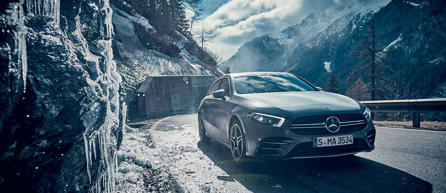 Mercedes-AMG A35 in Swiss Alps