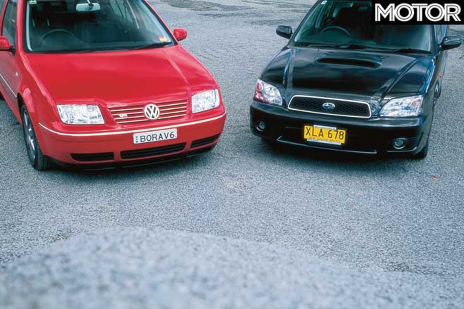 2001 Subaru Liberty B 4 Vs Volkswagen Bora V 6 4 Motion Comparison Specifications Jpg