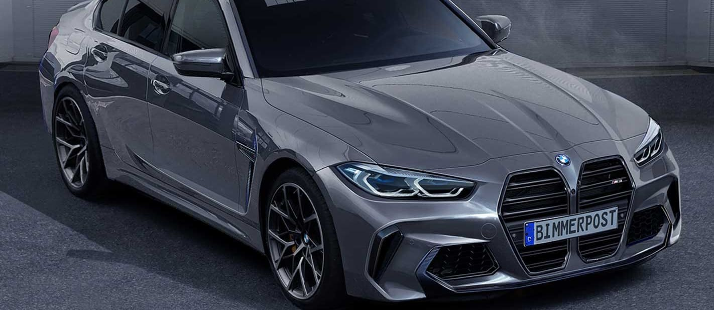 2020 BMW M3 big grille projected