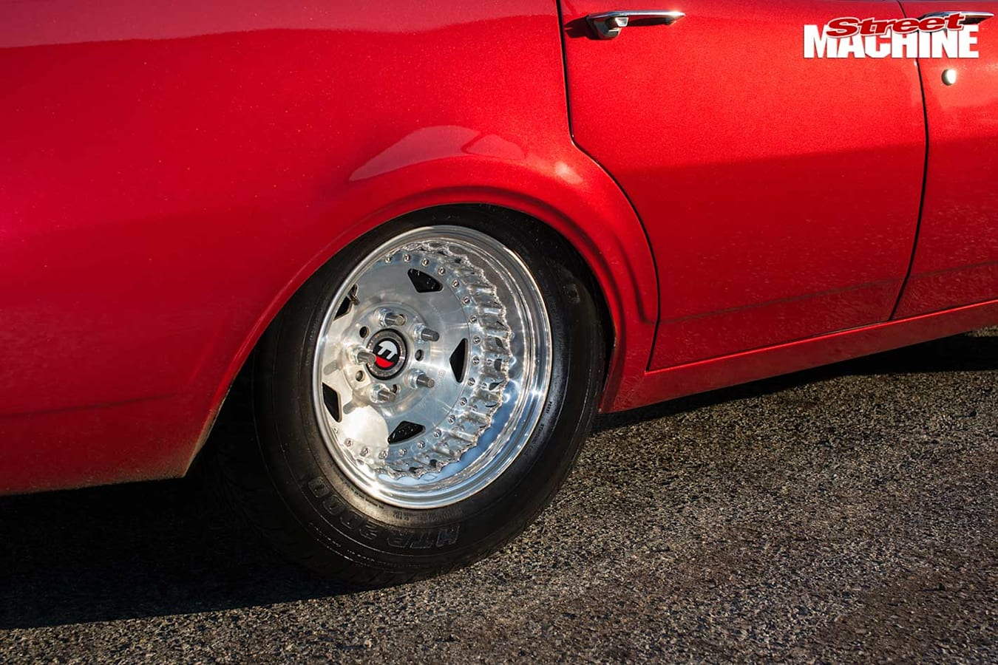 Holden HG wagon rear wheel