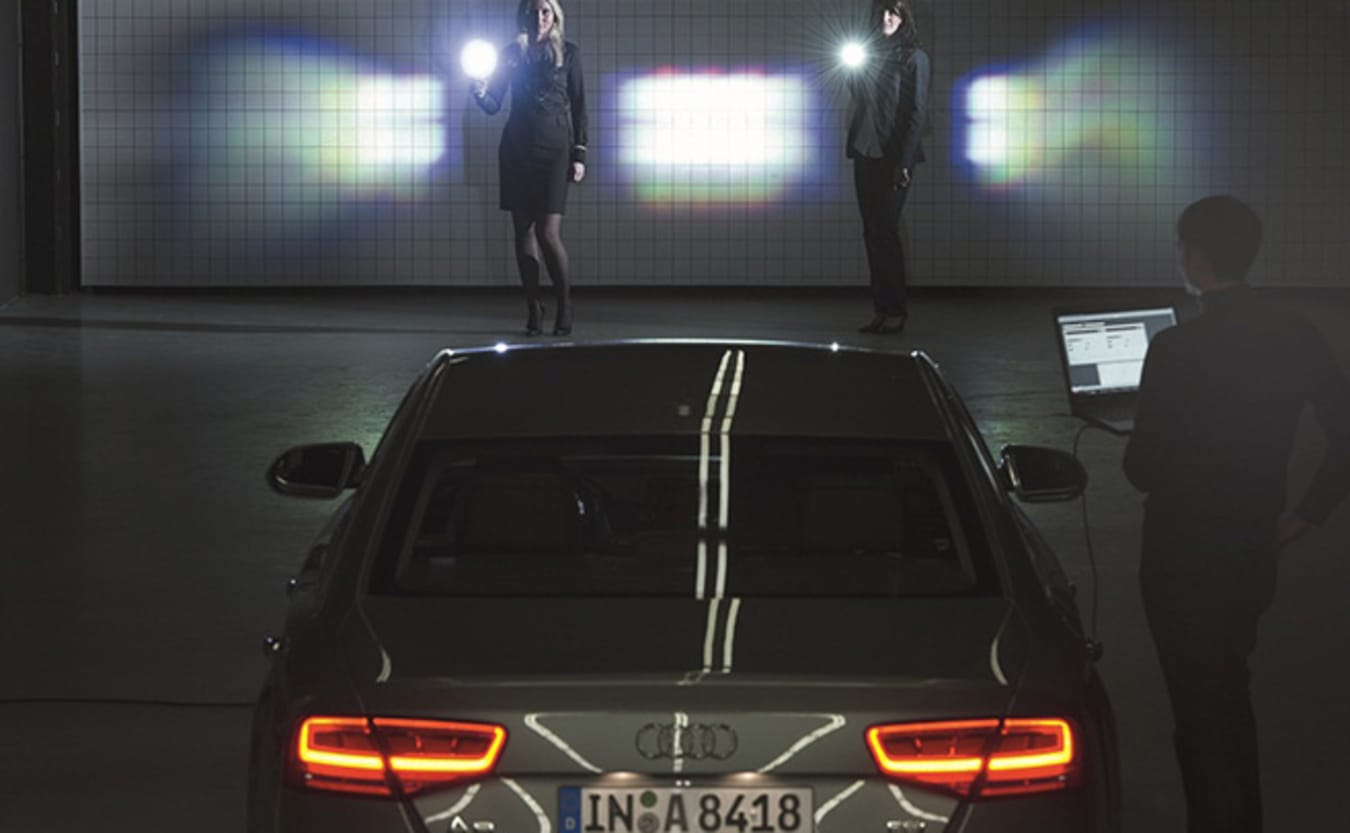 Audi Matrix LED headlight technology being tested