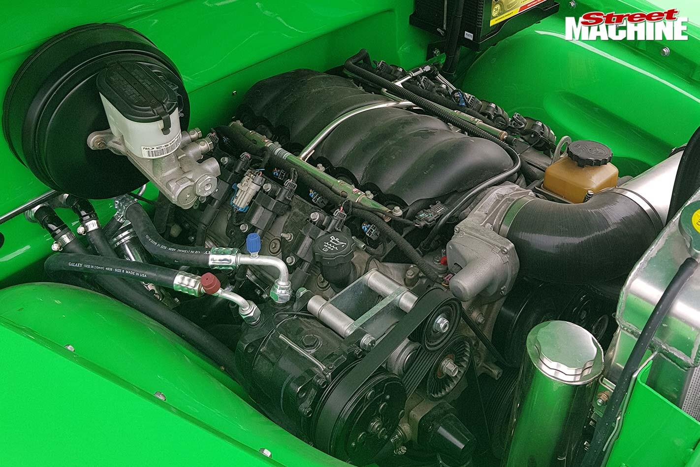 chevy pickup engine bay