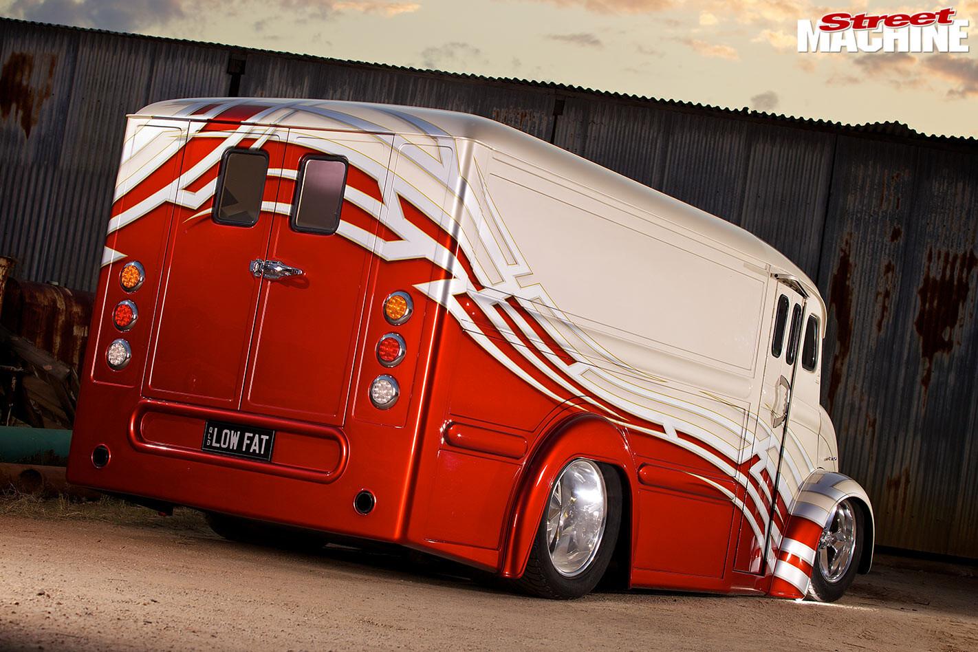 custom divco van rear