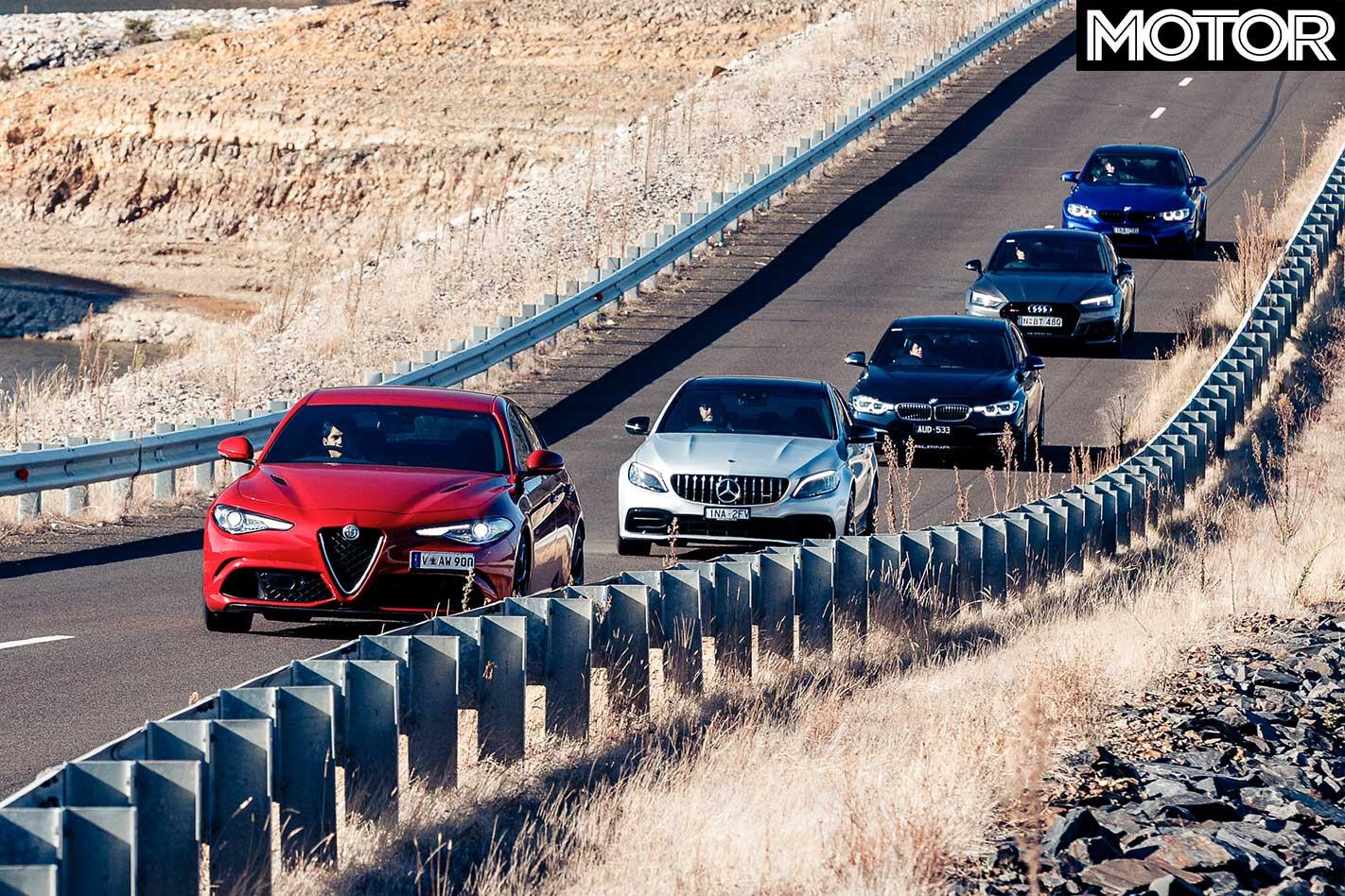 2019 Mercedes AMG C 63 S Vs Audi RS 5 Sportback Vs BMW M 3 Pure Vs Alfa Romeo Giulia Q Vs Alpina B 3 S Acceleration Comparison Jpg
