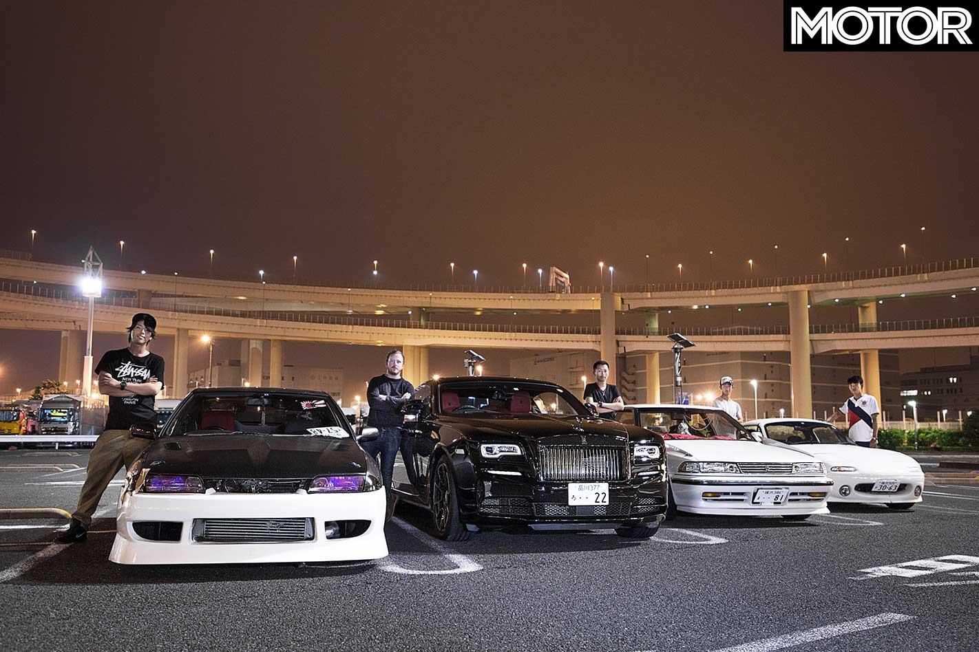 Finding Japan Car Culture Rolls Royce Wraith Black Badge Daikoku Parking Area Jpg