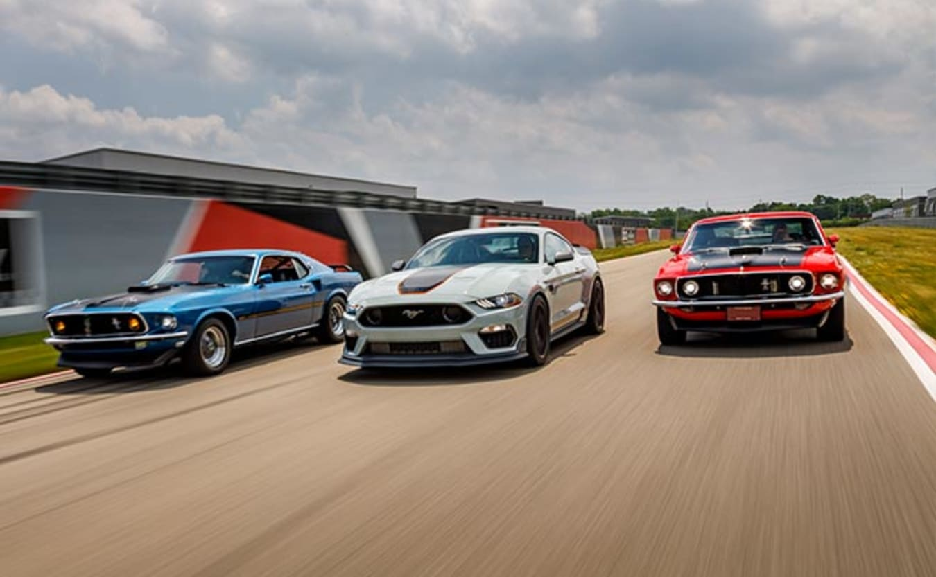 2021 Ford Mustang Mach 1 and originals