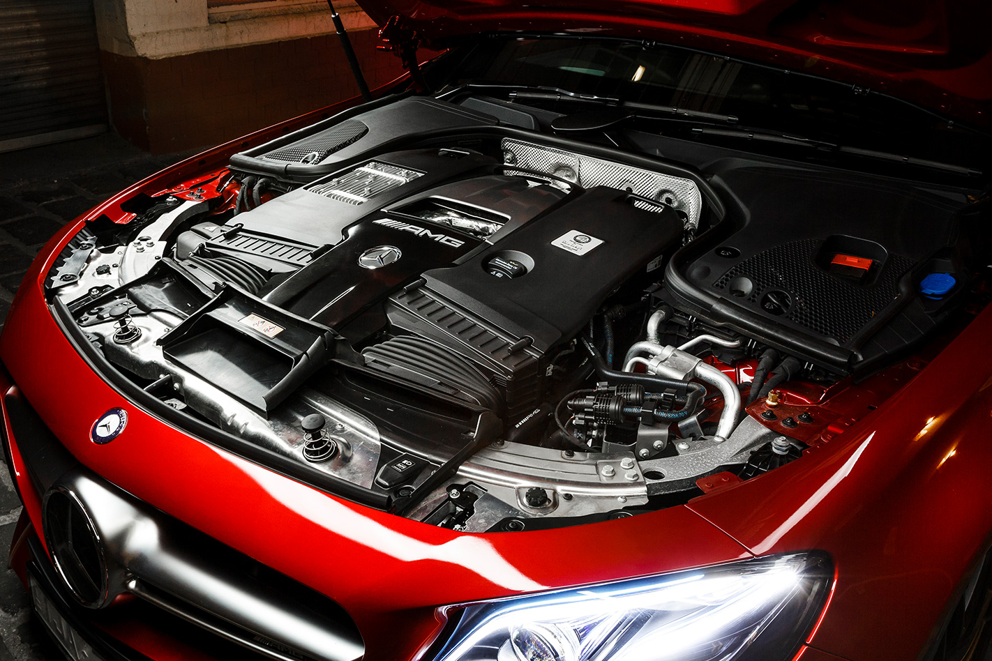 2017 MercedesAMG E63 S engine