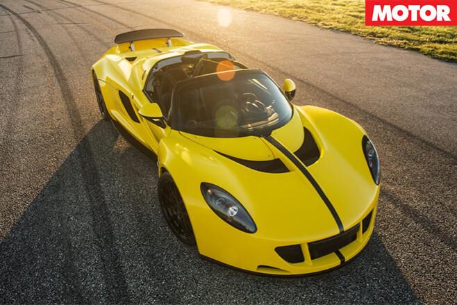 Hennessey Venom GT Spyder front side