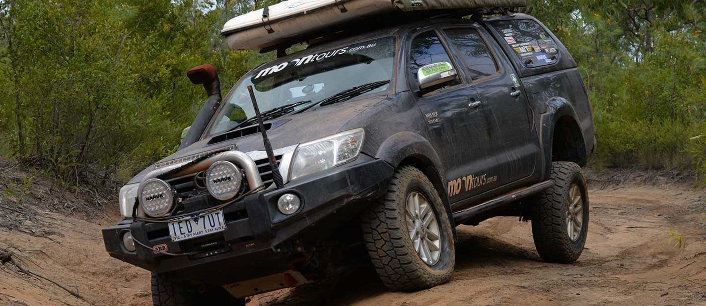 2015 Toyota Hilux in the 4x4 shed
