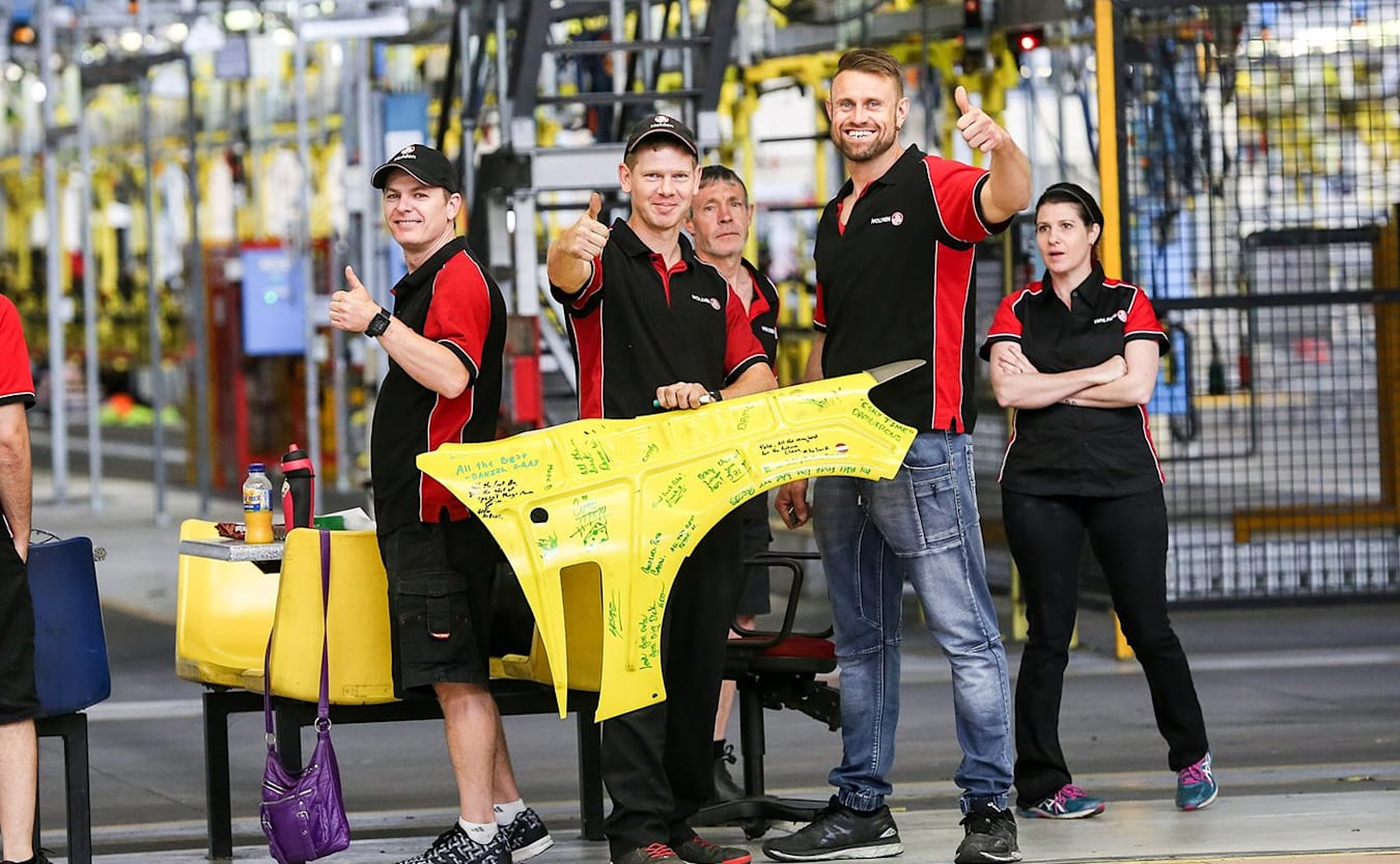 Holden workers on final days