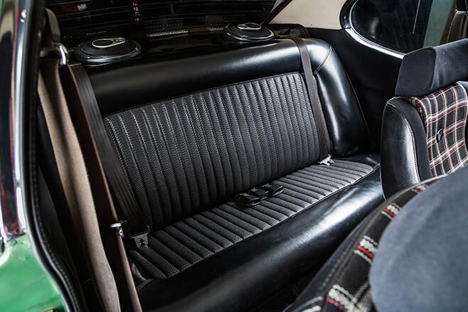 Ford Capri interior rear
