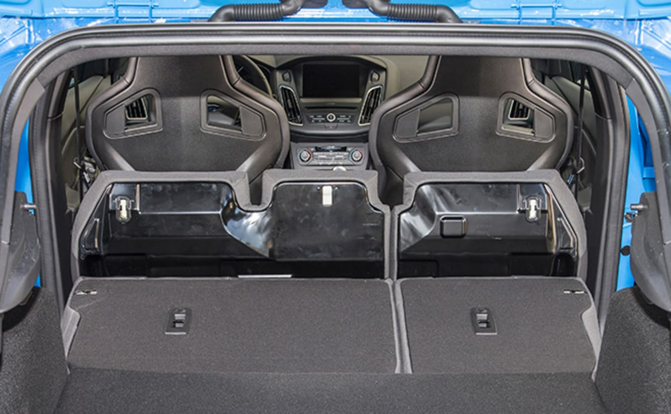 Ford Focus RS view from boot