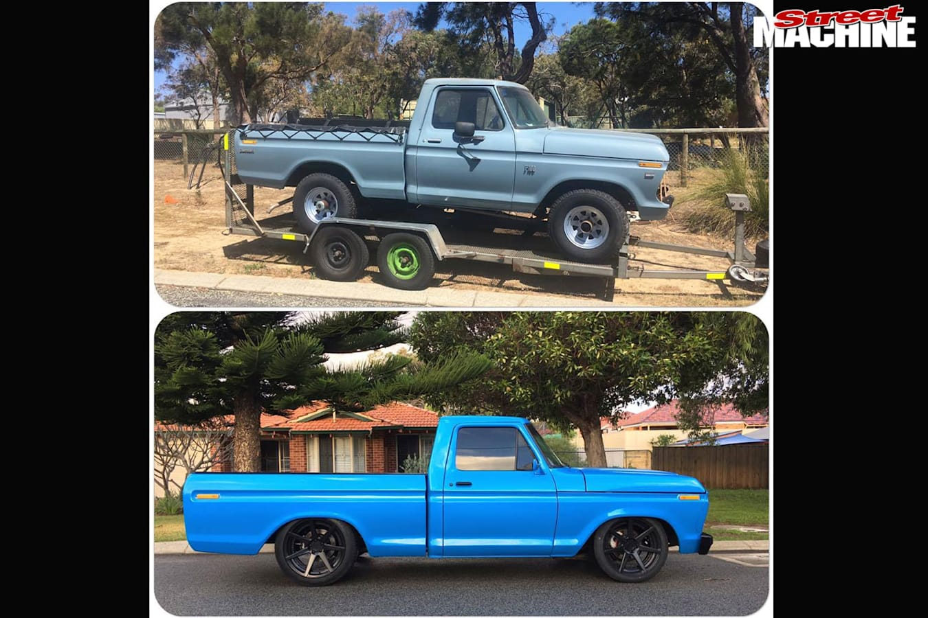 Ford F100 before vs after