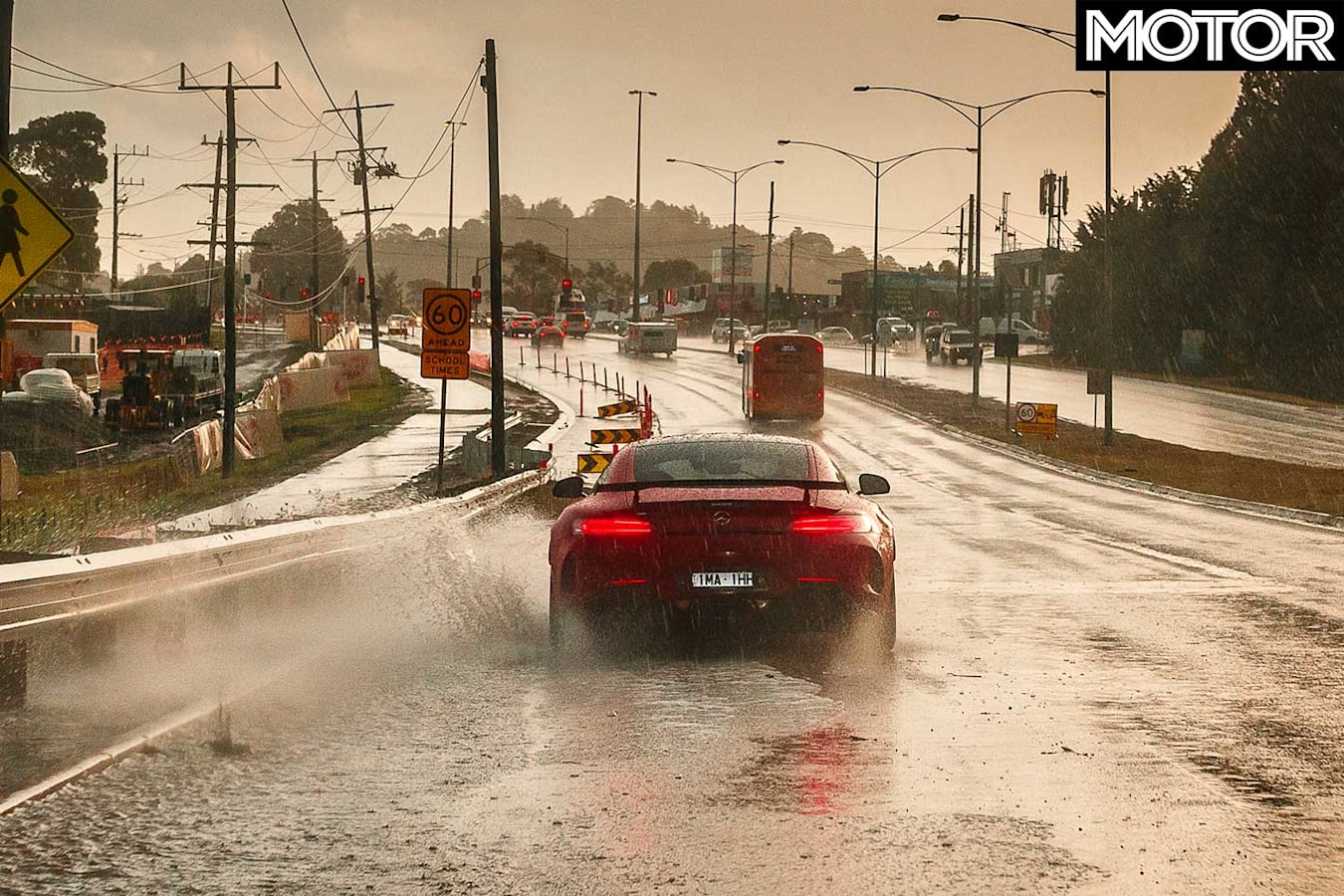 2019 Mercedes AMG GT R 12 Hours Review Wet Road Jpg