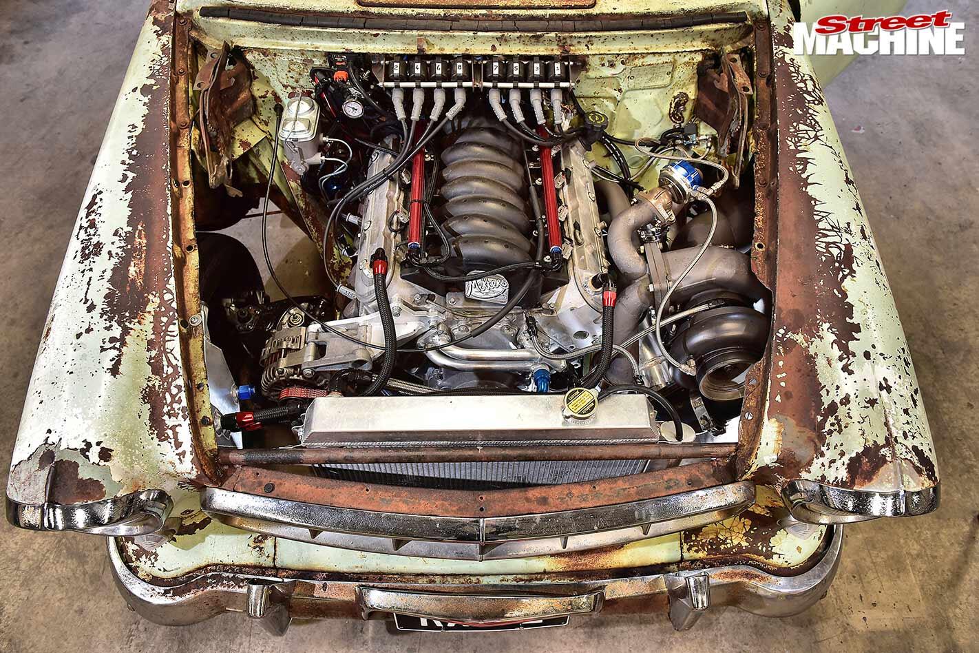 FE Holden engine bay