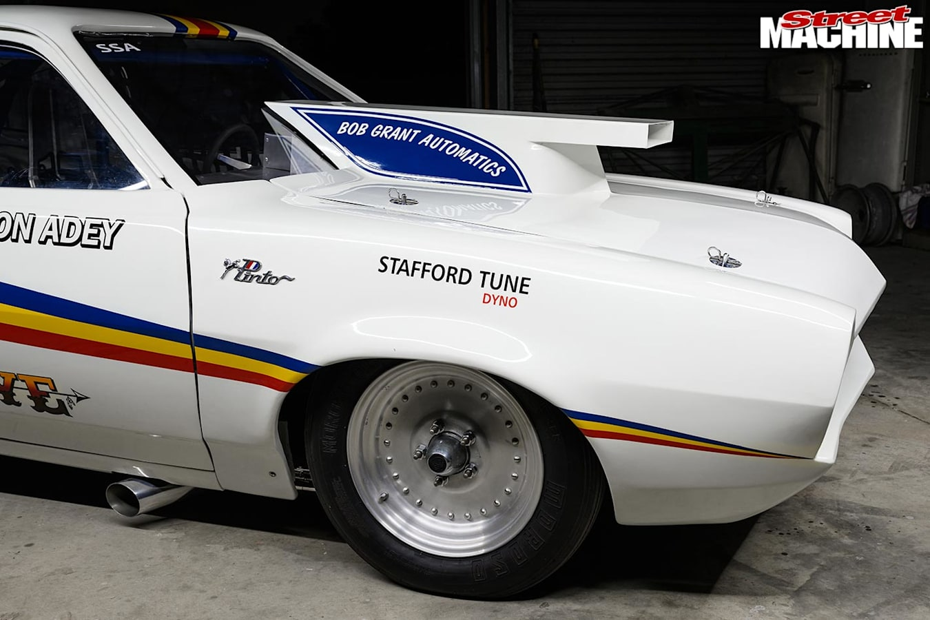 Ford Pinto drag car front