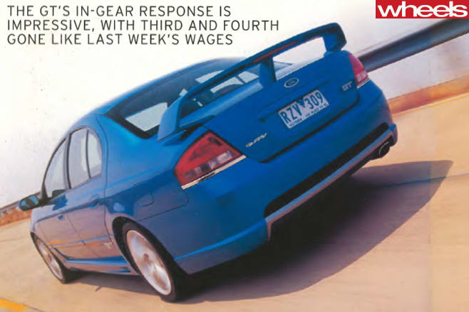 2003-Ford -BA-V8-driving -rear