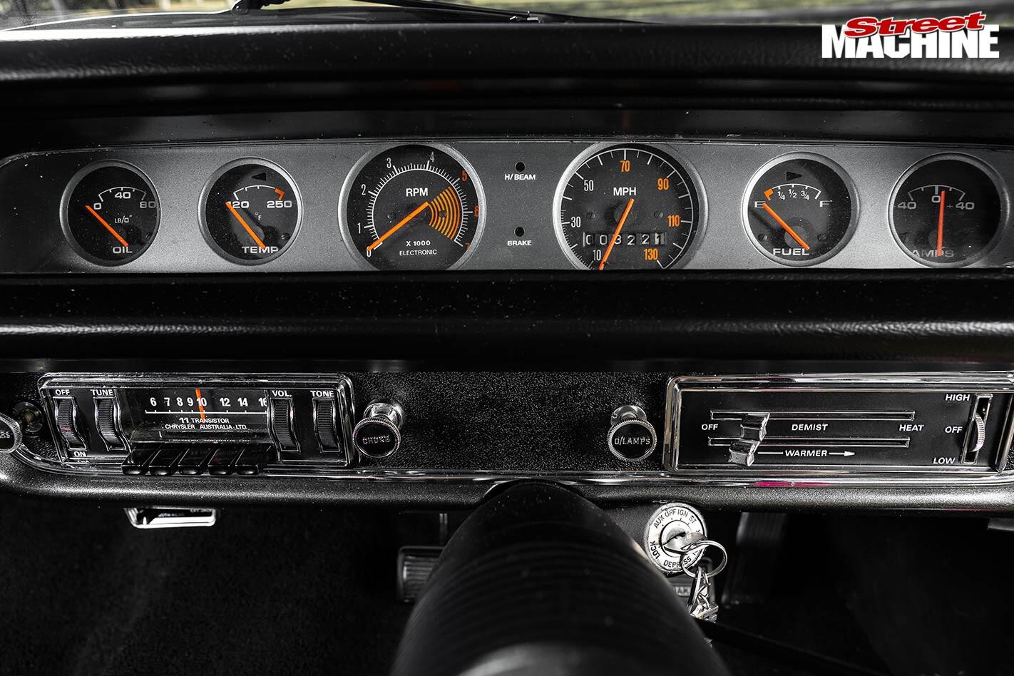 Chrysler VH Valiant Charger dash