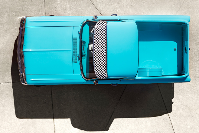 Ford XP ute top view