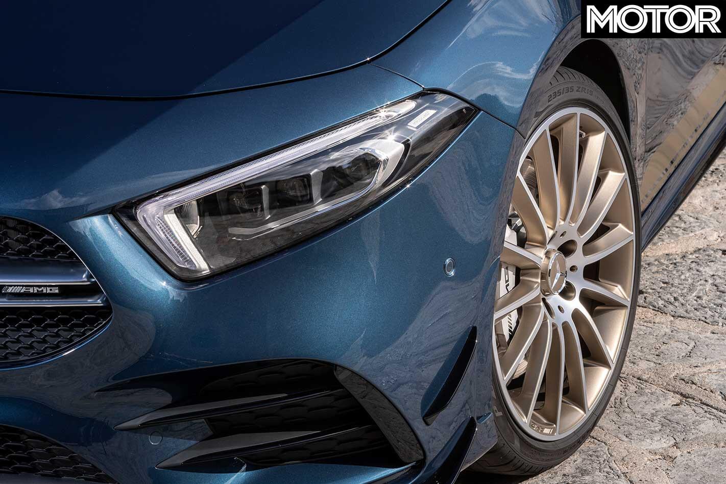 2019 Mercedes AMG A 35 Headlight Wheel Jpg