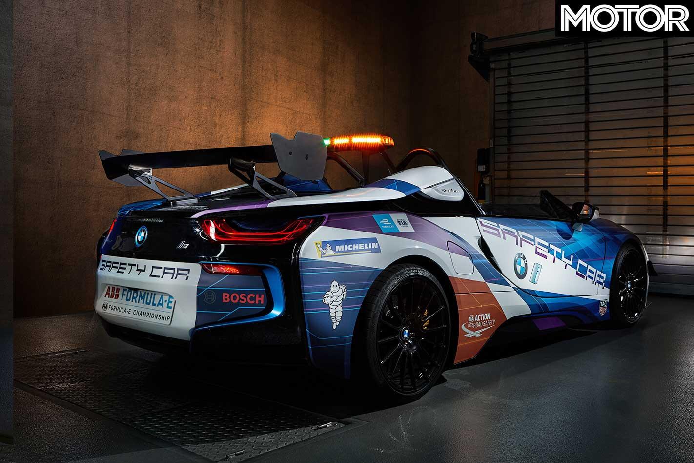 Modified BMW I 8 Roadster Formula E Safety Car Rear Jpg