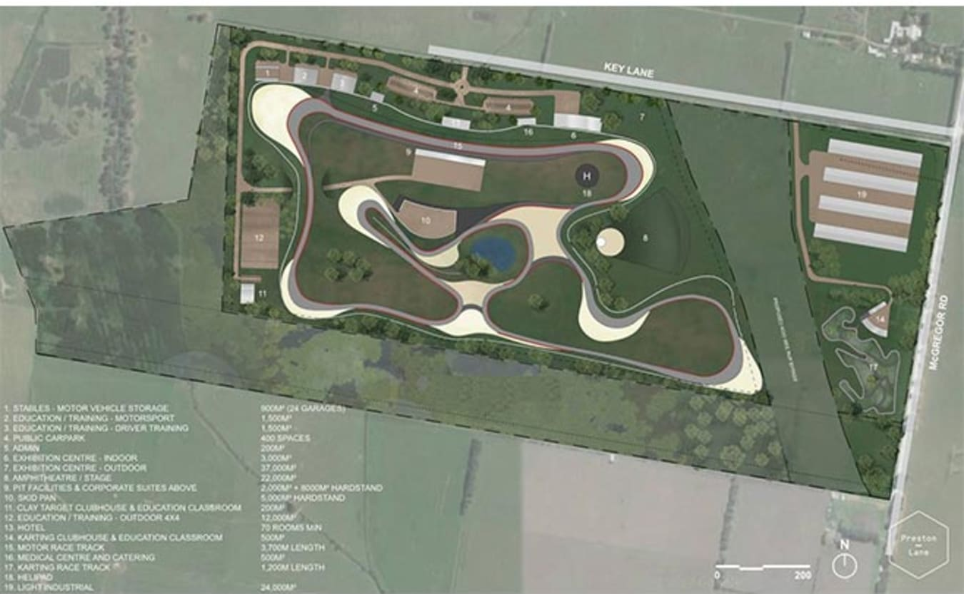 Cardinia Motor Recreation and Education Complex layout