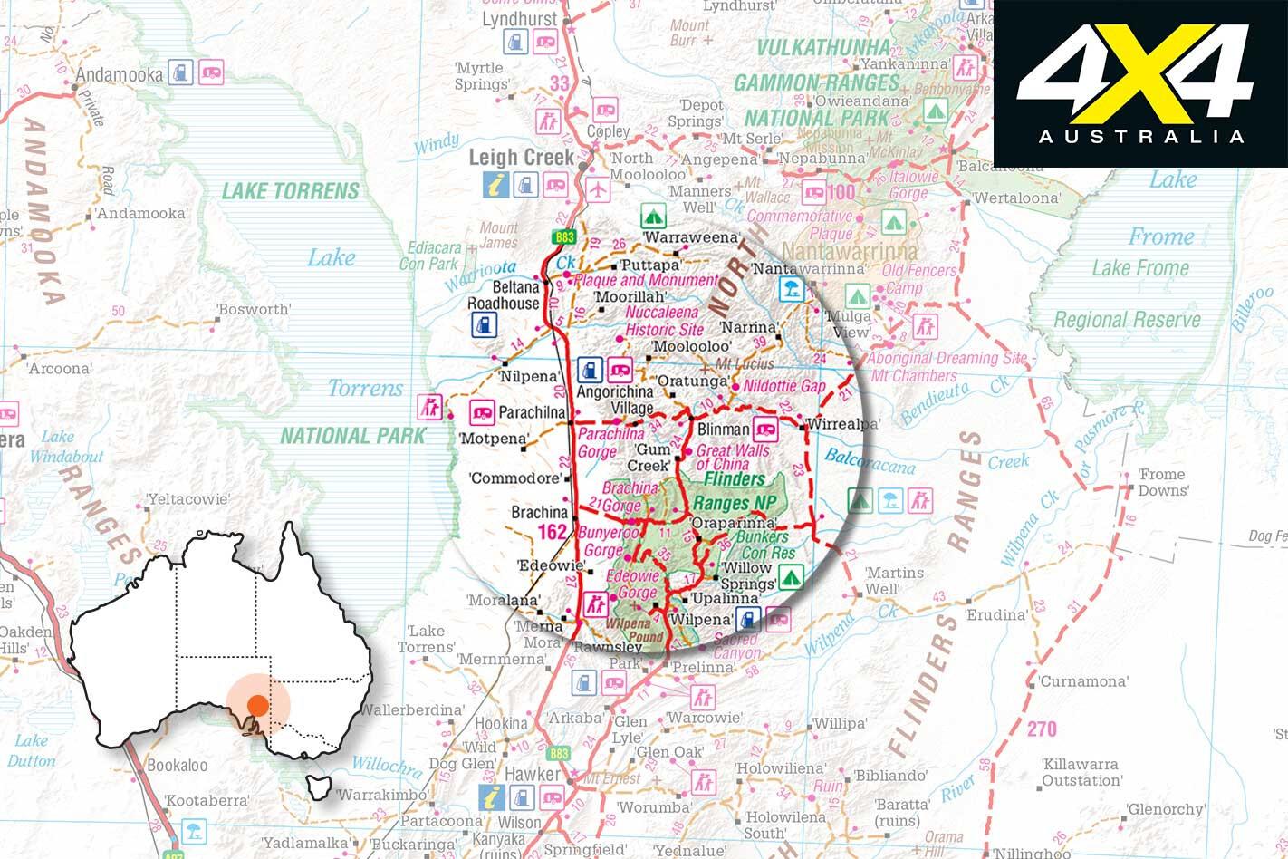 4 X 4 Trip Through The Copper Track Map Jpg
