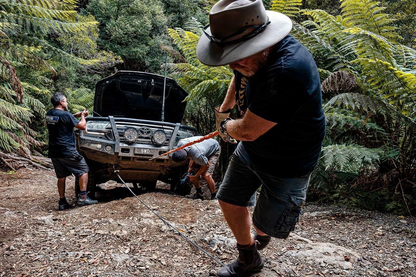 Winch recovery in Tasmania
