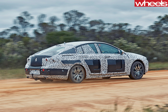 2018 Holden Commodore driving rear side