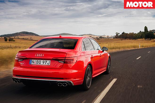 2017 Audi S4 rear