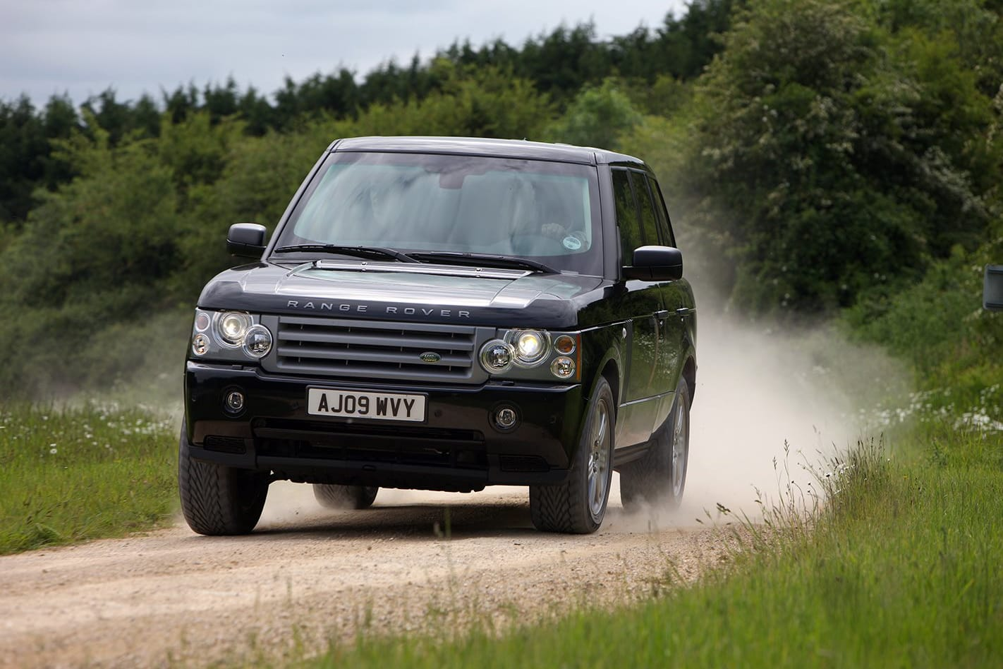 Armoured Range Rover custom driving