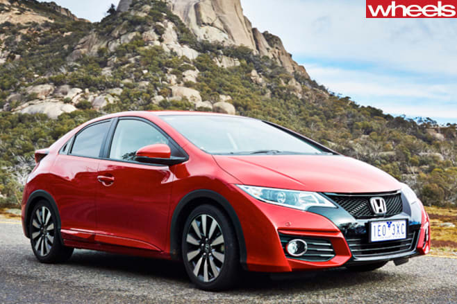 Honda -Civic -top -side -profile -parked