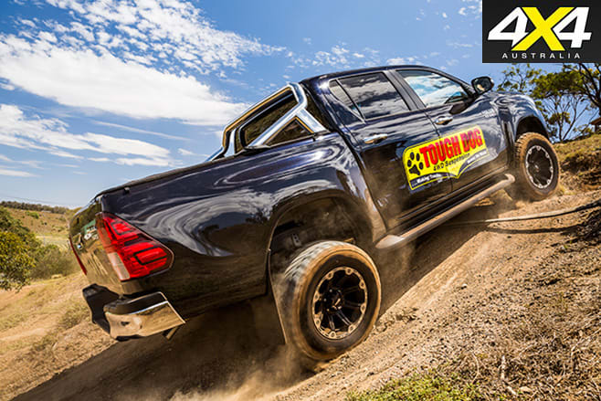 Tough -dog -hilux -uphill -driving