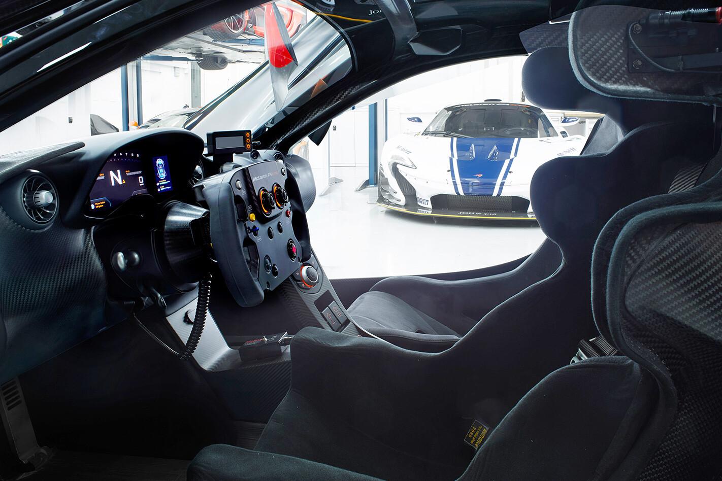 McLaren's P1 GTR interior