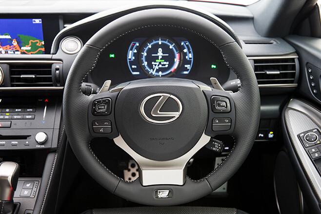 Lexus RC 350 interior steering wheel