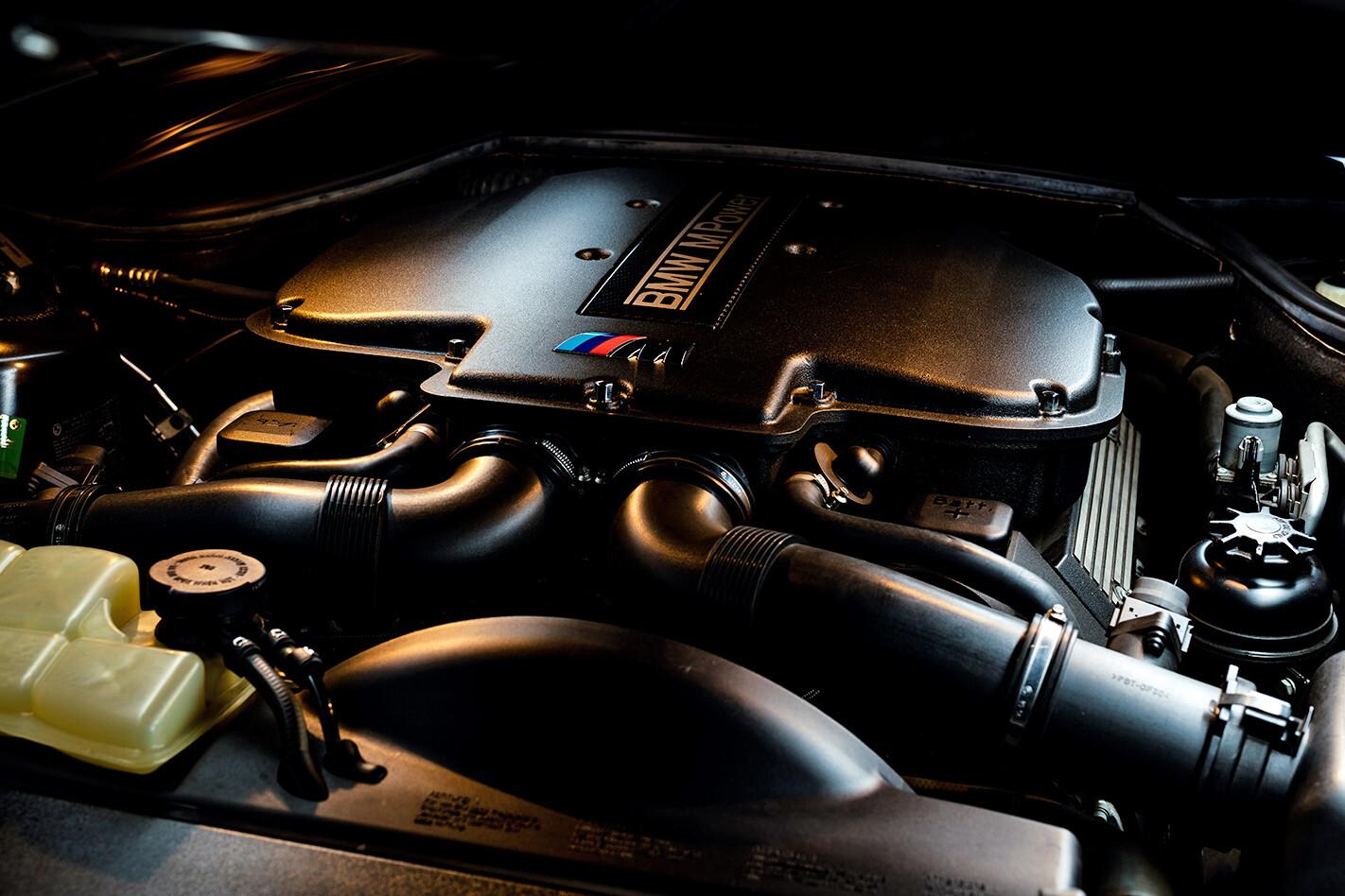 BMW Z8 engine bay