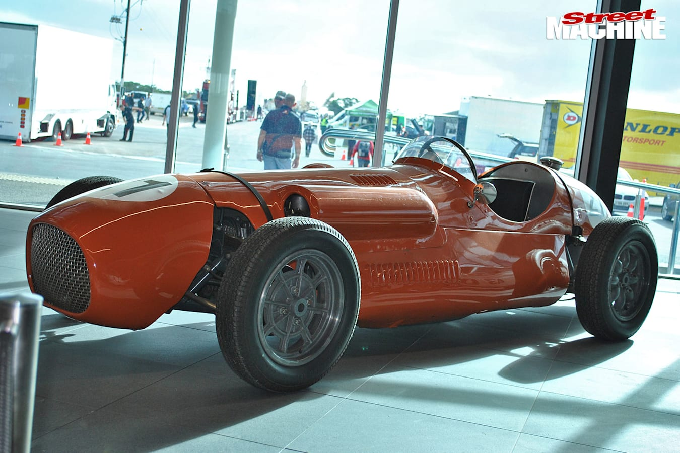 The Waggott Meyers Special runs a Holden Grey with a twin cam head and six SU carburettors
