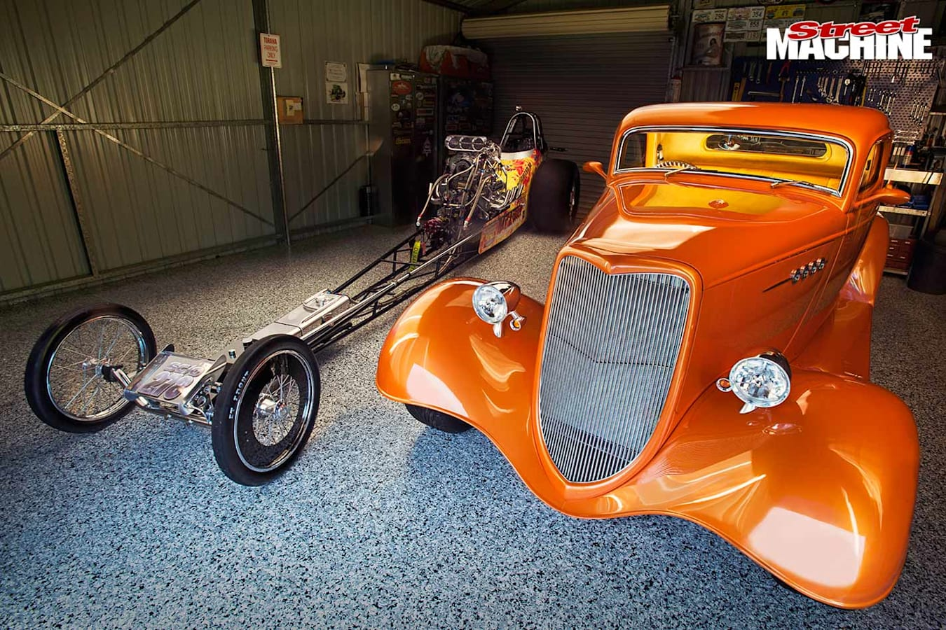 ford coupe and dragster