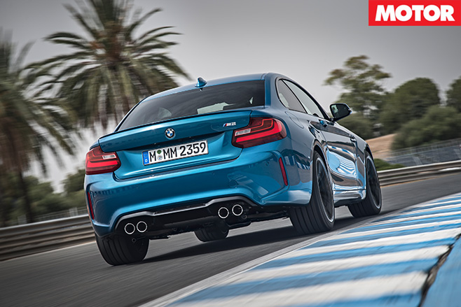 BMW M2 rear driving track