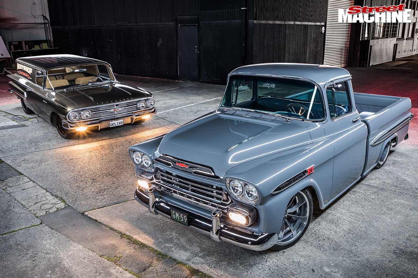 Chev Apache Fleetside and Biscayne sedan delivery