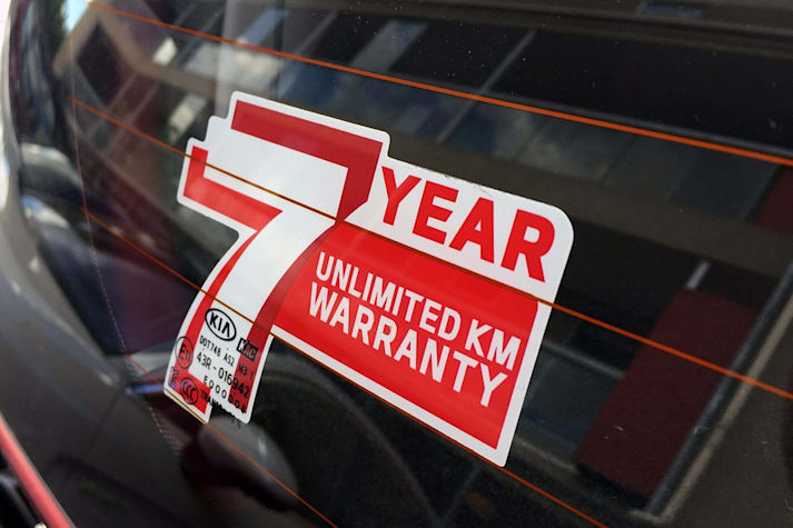 Kia Warranty Sticker MAIN Jpg