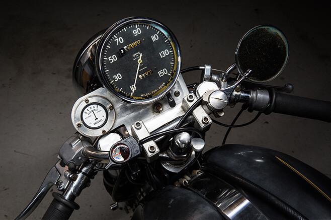 Norvin motorcycle speedo