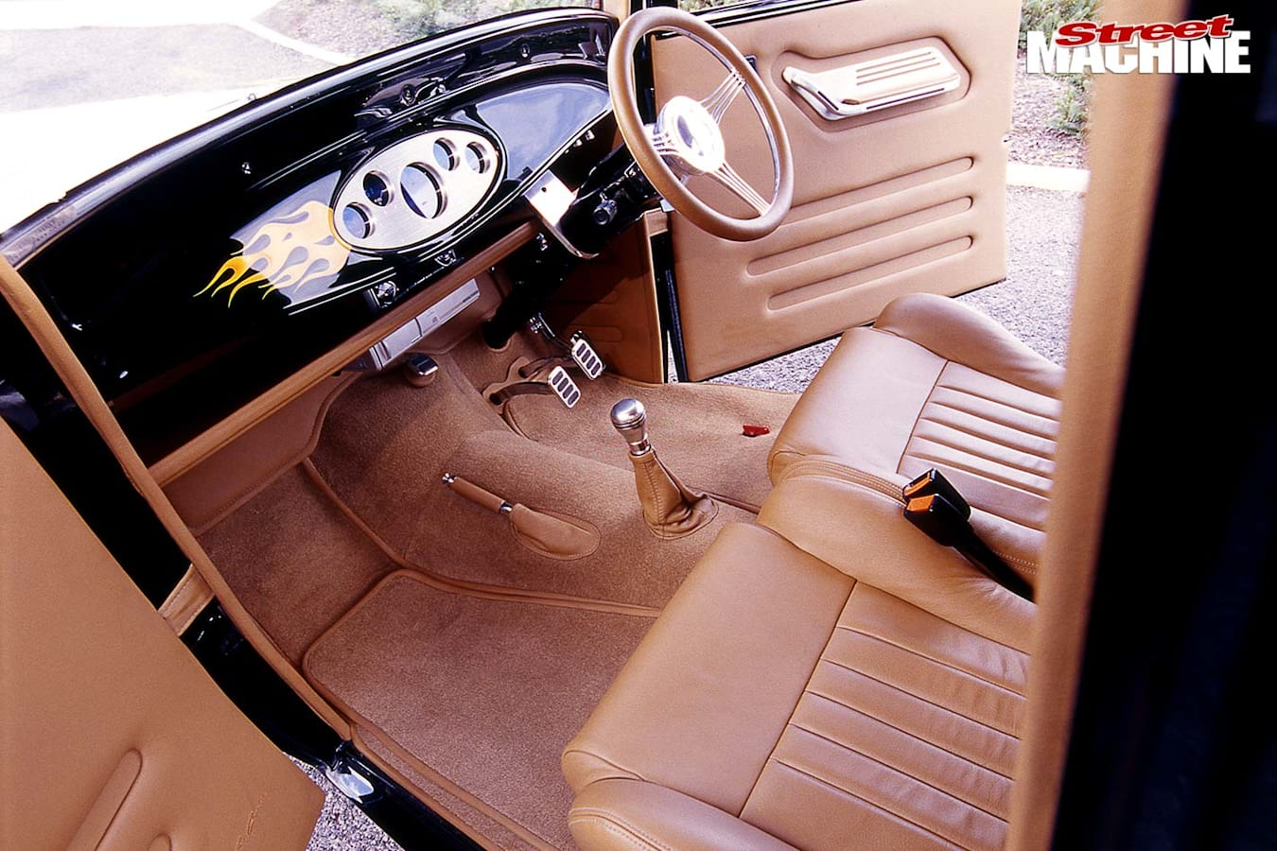 Ford Model A Tudor interior