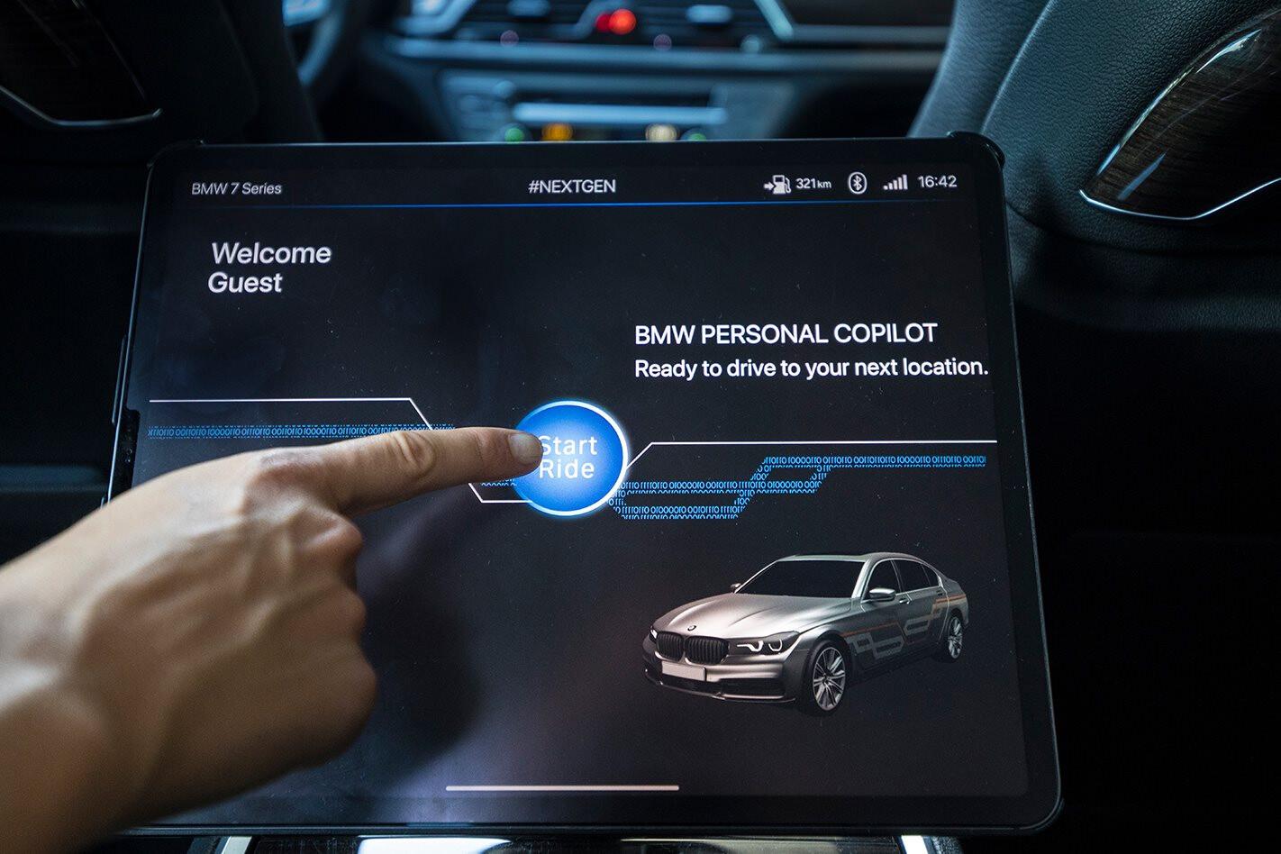 BMW autonomous car test 2019