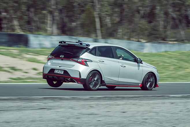 Hyundai i20 N cornering