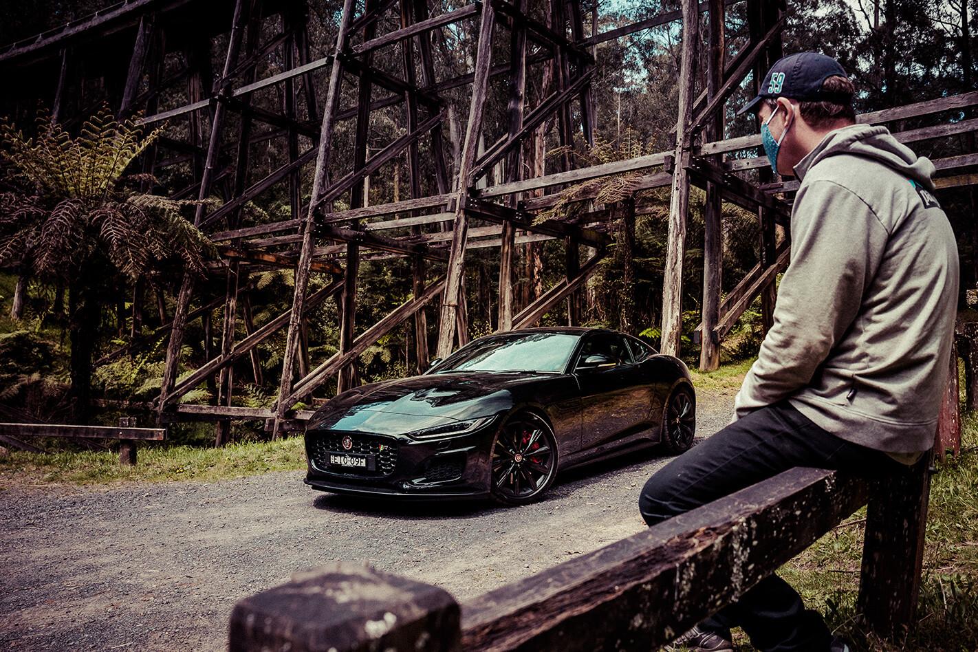 Car V Road Jaguar F Type Static Front Side Jpg
